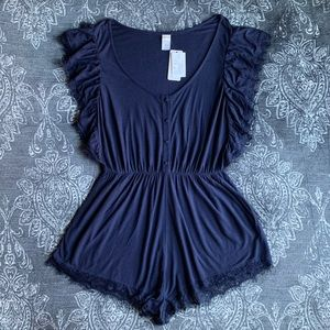 L*Space Sweet Life Romper in Midnight Blue Large